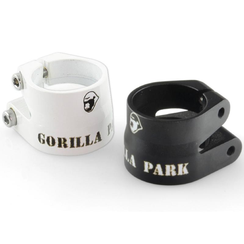 Abrazadera tija de sillin gorila park blanco